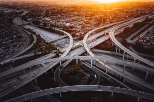 Croisement d'une multitudes de routes
