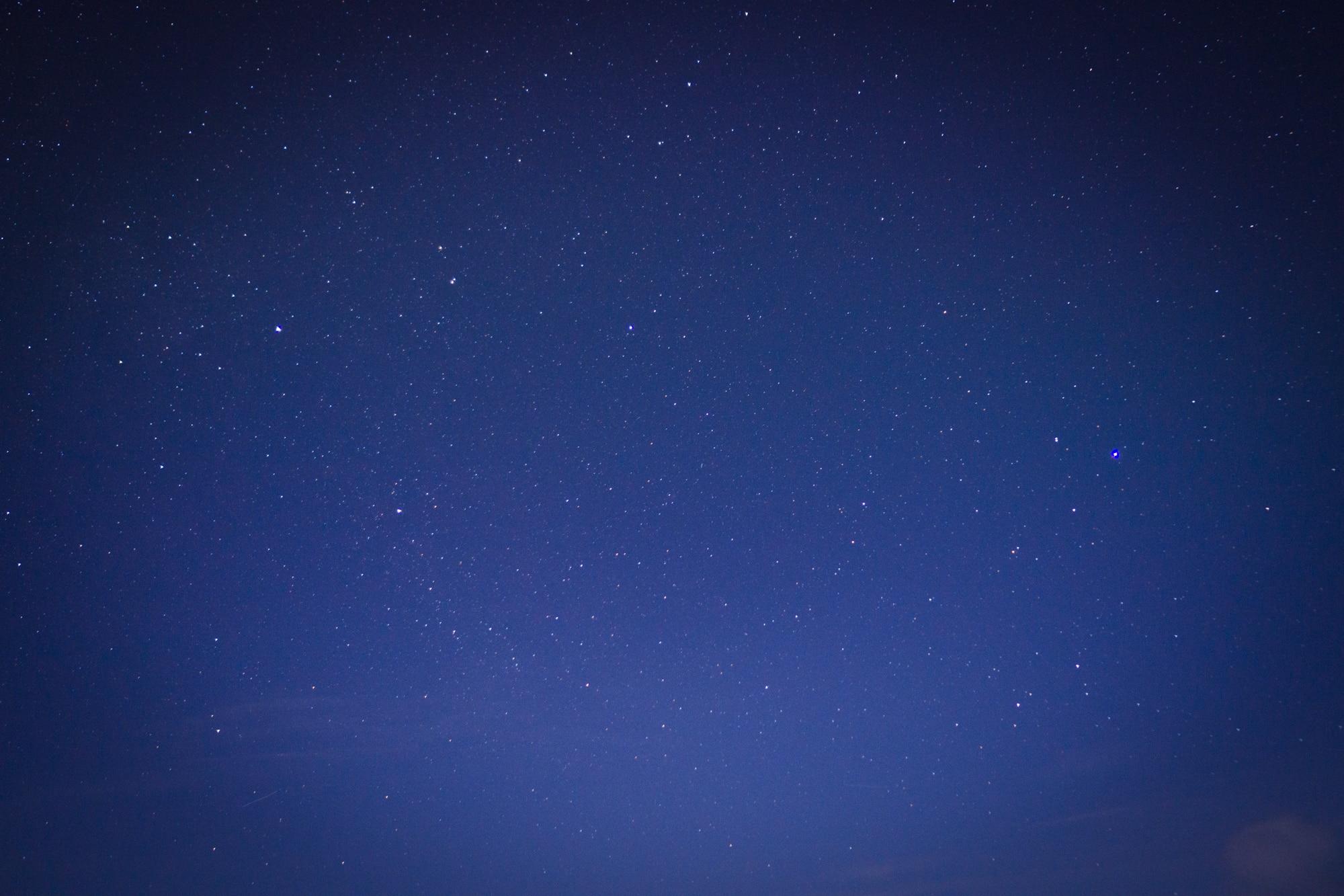Ciel en Islande, de nuit, avec les étoiles