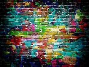 Murs plein de couleurs