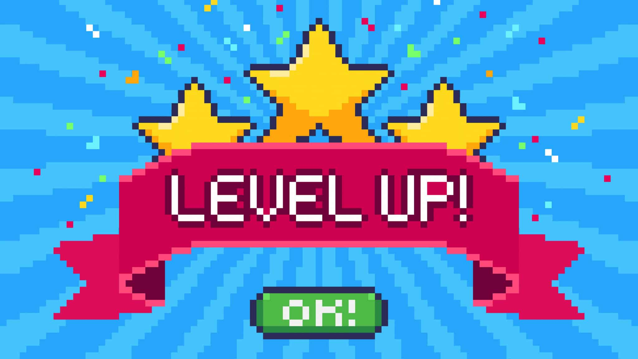 """Illustration """"Level up"""""""